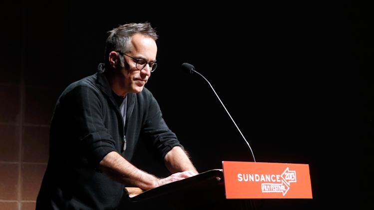 "Director of the Sundance Film Festival John Cooper speaks onstage at Fox Searchlight's ""The East"" premiere during the Sundance Film Festival on Sunday, Jan. 20, in Park City, Utah. (Photo by Todd Williamson/Invision for Fox Searchlight/AP Images)"