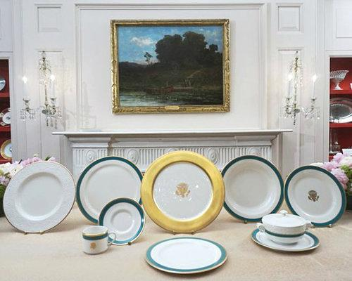 Obama Wire: Sneak a Peek at the New White House China Set Created By Michelle Obama