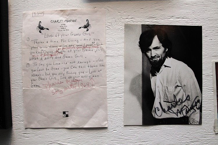 Serial killer memorabilia displayed in the waiting area of Killers: A Nightmare Haunted House. (Photo: Siemond Chan)