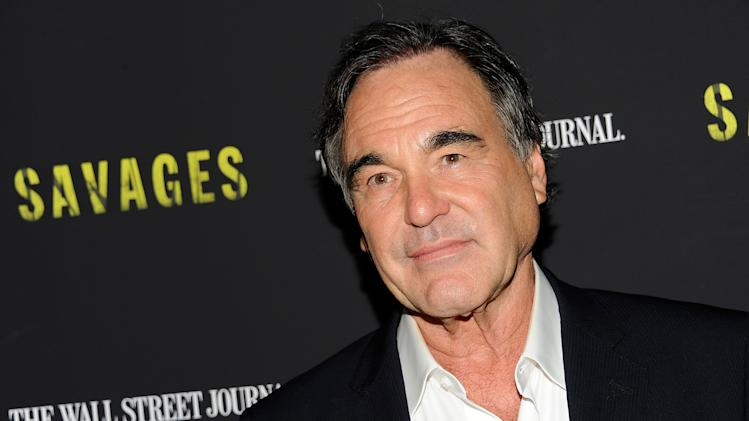 "FILE - In this June 27, 2012 file photo, director, Oliver Stone, attends a special screening of ""Savages,"" at the SVA Theater in New York.  (Photo by Evan Agostini/Invision/AP, File)"