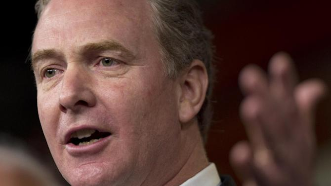 "FILE - This Dec. 22, 2011 file photo shows Rep. Chris Van Hollen, D-Md., ranking Democrat on the House Budget Committee, speaking during a news conference on Capitol Hill in Washington. Republican leaders say the government can raise tax ""revenue"" without raising tax ""rates."" But how? If Congress reduces itemized deductions, many Americans will still pay more taxes. This politically tricky tradeoff is about to take center stage in negotiations over averting a national ""fiscal cliff.""  (AP Photo/Evan Vucci, File)"