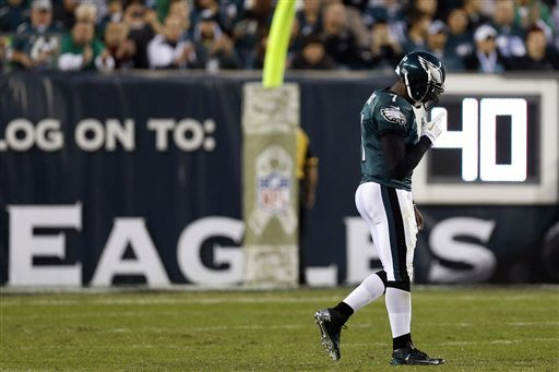 Eagles QB Vick has 'pretty significant' concussion