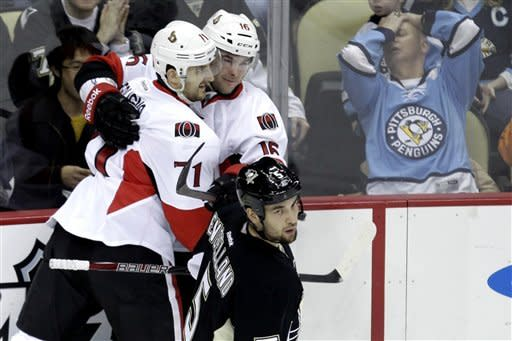 Senators make quick work of slumping Penguins, 5-1