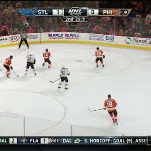 Steve Mason Save on Robert Bortuzzo (19:34/2nd)