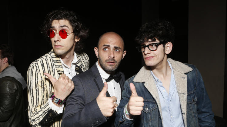Max Landis, Matt Cohen and Matt Bennett attend a surprise birthday party for MTV Teen Wolf's Stephen Lunsford presented by Monster Energy Drinks on Tuesday November 27, 2012 in Los Angeles, CA.  (Photo by Todd Williamson/Invision for Monster Energy Drinks/AP Images)