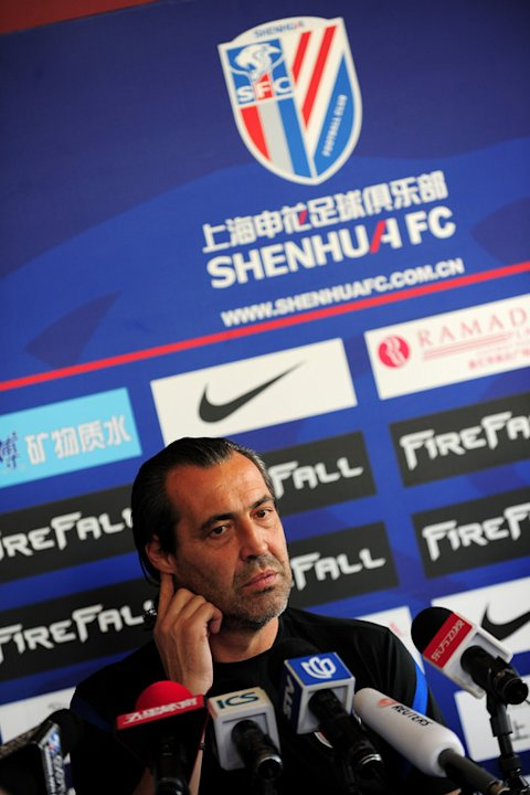 Sergio Batista, Head Coach Of Chinese Super League Side Shanghai Shenhua, Attends A Press Conference In Shanghai On AFP/Getty Images