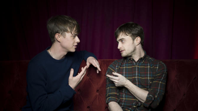 "Dane DeHaan, left, and Daniel Radcliffe from the film ""Kill Your Darlings,"" pose for a portrait during the 2013 Sundance Film Festival at the Fender Music Lodge on Saturday, Jan. 19, 2013 in Park City, Utah. (Photo by Victoria Will/Invision/AP Images)"