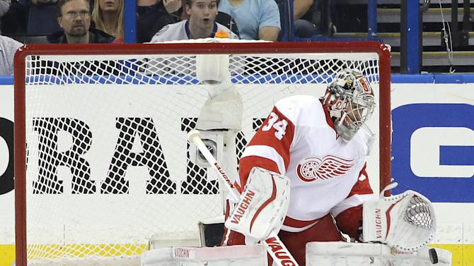 Petr Mrazek proves the right choice in Red Wings Game 1 win