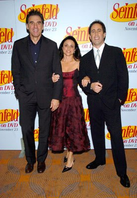 Michael Richards, Julia Louis-Dreyfus and Jerry Seinfeld
