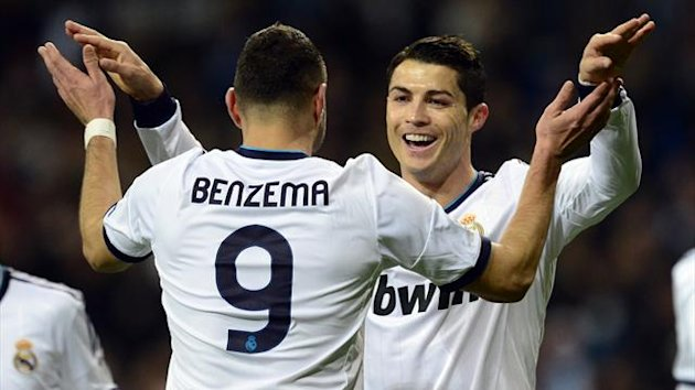 FOOTBALL 2013 Real Madrid's Karim Benzema and Cristiano Ronaldo (AFP)
