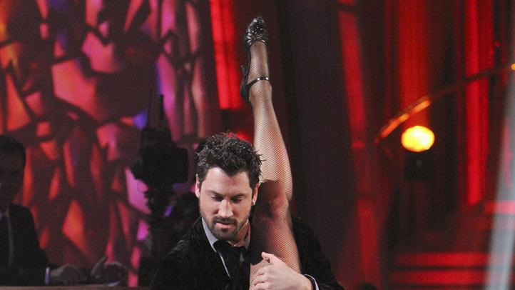 "Maksim Chmerkovskiy and Erin Andrews on the finale of ""Dancing with the Stars."""