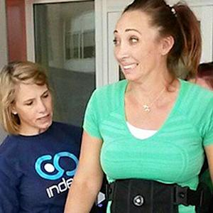 Amy Van Dyken-Rouen takes first steps since ATV accident