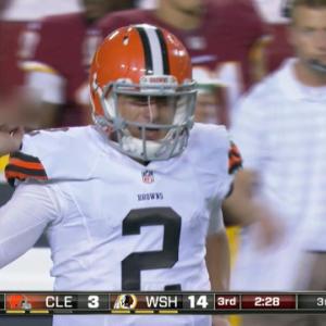 Cleveland Browns quarterback Johnny Manziel fined