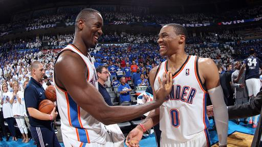 Westbrook scores 40, Thunder tie series at 2-2