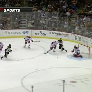 Mike Smith Save on Sidney Crosby (11:19/1st)