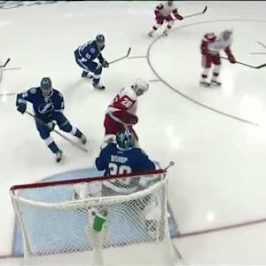 Datsyuk beats Bishop 8 seconds into the period