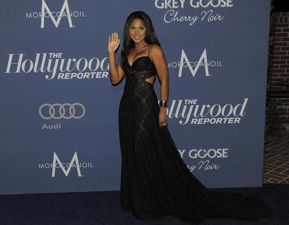 FILE - In this Feb. 23, 2012 file photo, singer Toni Braxton arrives at The Hollywood Reporter Nominees Night, at Mayor Antonio Villaraigosa's official residence in Los Angeles.  Braxton has been hospitalized in Los Angeles for health issues caused by Lupus. (AP Photo/Chris Pizzello, File)