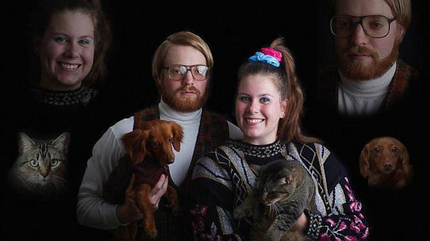 Couple Has Wacky, Retro Engagement Photo Shoot