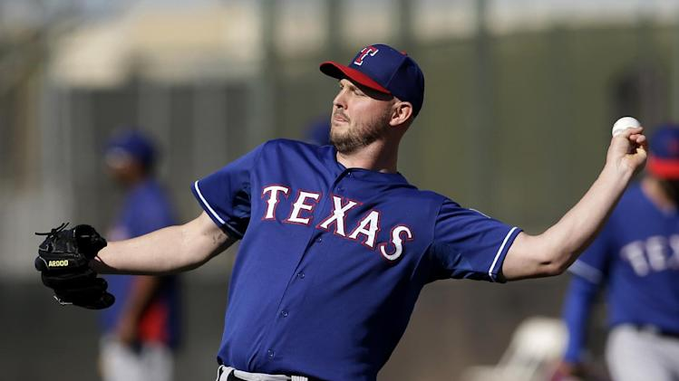 Rangers LHP Harrison not likely ready for opener