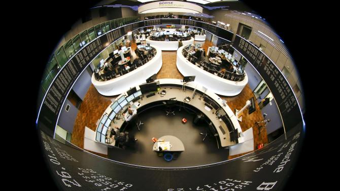 The German share price index DAX is seen at Frankfurt's stock exchange
