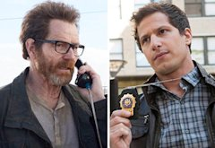 Bryan Cranston, Andy Samberg | Photo Credits: AMC. Fox