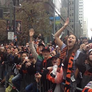 Rain Can't Stop Giants' World Series Parade