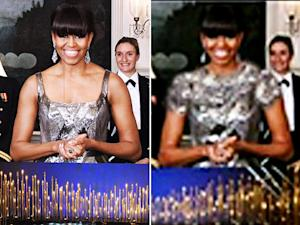 Michelle Obama: Iranian Broadcaster Photoshopped Sleeves, Higher Neckline to First Lady's Oscars Dress