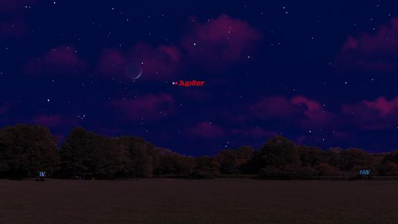 Cosmic Mother's Day Treat: See Jupiter and the Moon Sunday