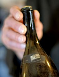 A bottle of Vin Jaune (Yellow Wine) from 1774