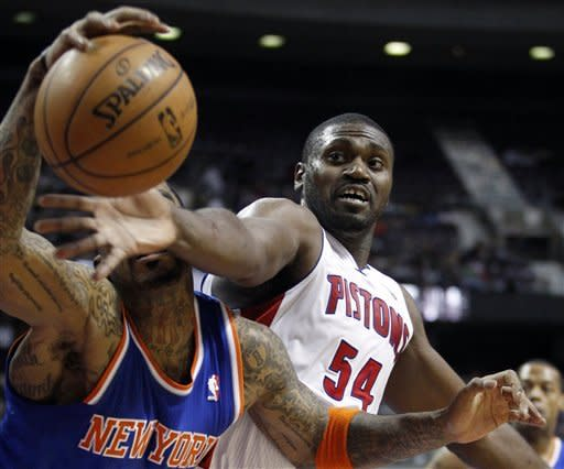 Knicks beat Pistons 87-77 without Anthony