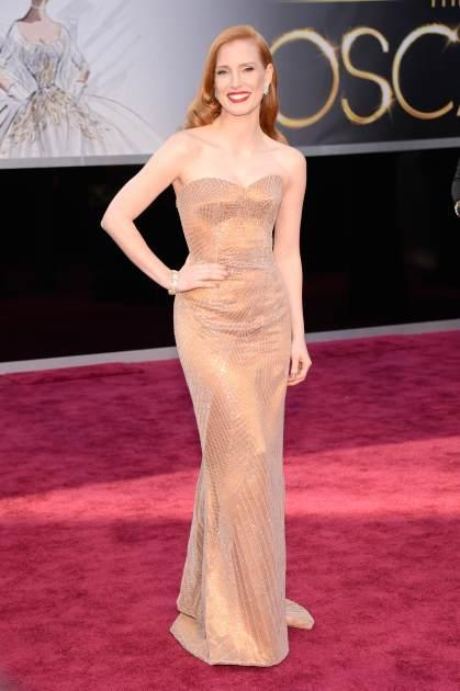 Channeling Marilyn (Jessica Chastain and Giorgio Armani)