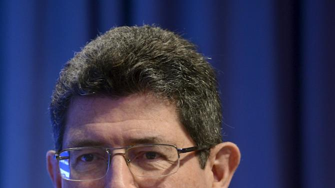 Brazil's Finance Minister Levy attends a discussion on debt in Washington