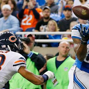 Detroit Lions wide receiver Calvin Johnson scores second touchdown