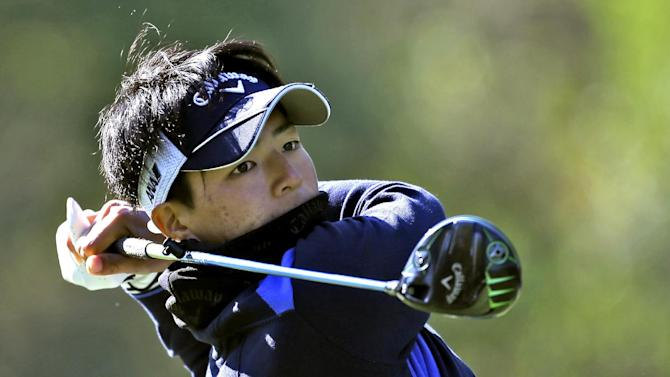Ryo Ishikawa, of Japan, tees off on the ninth hole during the first round of the Tampa Bay Championship golf tournament Thursday, March 14, 2013, in Palm Harbor, Fla. (AP Photo/Chris O'Meara)