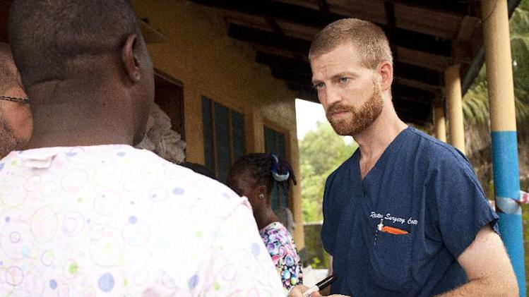 This undated handout photo obtained on July 30, 2014 courtesy of Samaritan's Purse shows Dr. Kent Brantly near Monrovia, Liberia