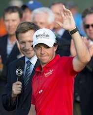 Rory McIlroy of Northern Ireland waves to the crowd after winning the 94th PGA Championship on Kiawah Island, South Carolina