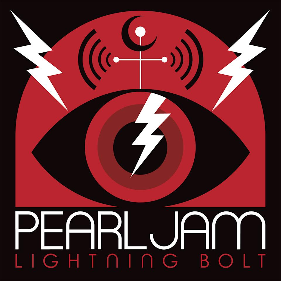 "This CD cover image released by Monkeywrench Records/Republic Records shows ""Lightning Bolt,"" the latest release by Pearl Jam. (AP Photo/Monkeywrench Records/Republic Records)"
