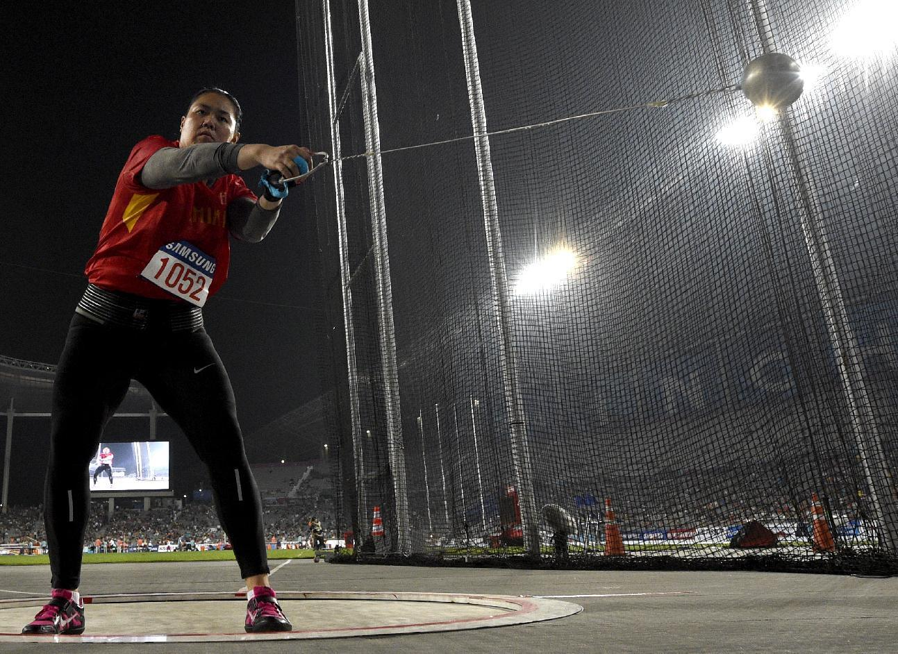 China hammer thrower's gold medal reinstated