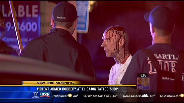 Violent armed robbery at El Cajon tattoo shop