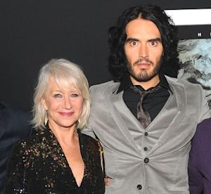 "Helen Mirren and Russell Brand at the premiere of ""The Tempest"" at the El Capitan Theatre in Los Angeles on December 6, 2010 -- WireImage"