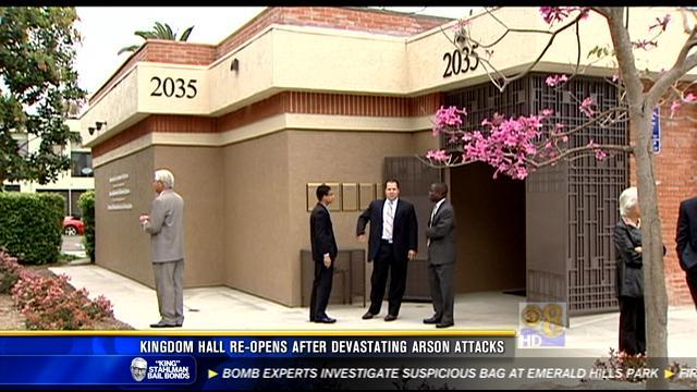 Kingdom Hall reopens after devastating arson attacks