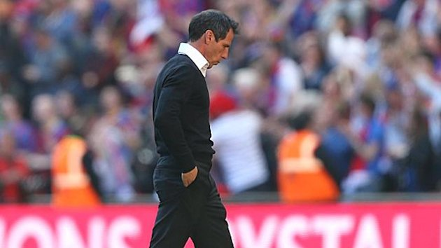 Watford manager Gianfranco Zola looks dejected after the final whistle (PA Photos)