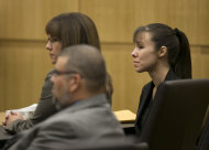 Jodi Arias listens as the verdict for sentencing is read for her first degree murder conviction at Maricopa County Superior Court in Phoenix, Ariz., on Thursday, May 23, 2013. The jury in Jodi Arias' murder trial was dismissed after failing to reach a verdict against the woman they convicted of murdering her one-time boyfriend in a case that captured headlines worldwide with its sex, lies, violence. (AP Photo/The Arizona Republic, David Wallace, Pool)