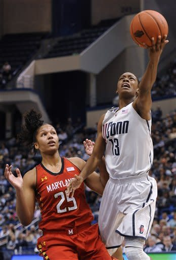 No. 2 UConn women beat No. 9 Maryland 63-48
