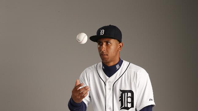 This is a 2015 photo of Anthony Gose of the Detroit Tigers baseball team. This image reflects the Tigers active roster as of Feb. 28, 2015 when this image was taken at spring training in Lakeland, Fla. (AP Photo/Gene J. Puskar)