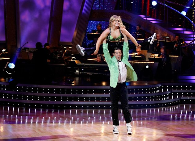 "Shawn Johnson and Mark Ballas perform a freestyle to ""Do Your Thing"" by Basement Jaxx on ""Dancing with the Stars."""