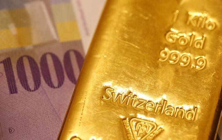 Gold dips after seven-day rally but set for second weekly gain