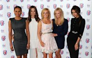 Melanie Brown, Melanie Chisholm, Geri Halliwell, Emma Bunton and Victoria Beckham of the Spice Girls attend launch of new musical based on the Spice Girls&#39; music at St Pancras Renaissance Hotel in London on June 26, 2012  -- Getty Premium