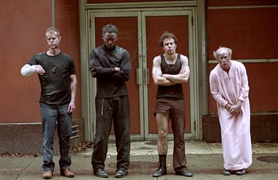 William H. Macy , Isaiah Washington , Sam Rockwell and Michael Jeter in Welcome To Collinwood