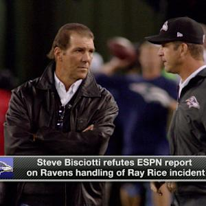Baltimore Ravens owner Steve Biscoiotti not curious about Ray Rice's second video